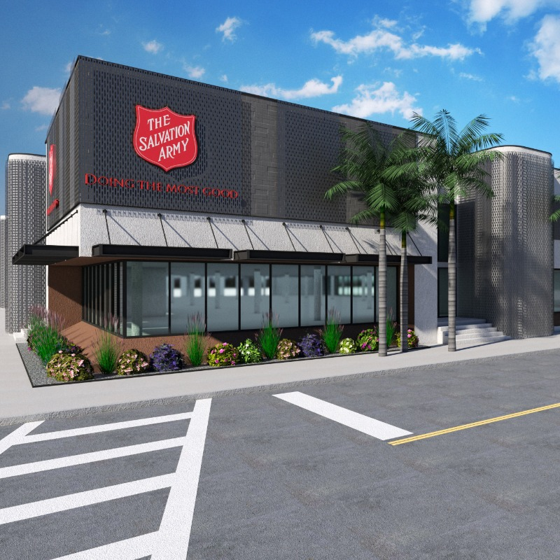 Rendering of the renovated Salvation Army Facility in Tampa Heights.